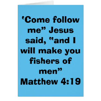 """Fishers of Men"" Blank Scripture Greeting Card"
