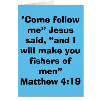 """Fishers of Men"" Blank Scripture Greeting Card"