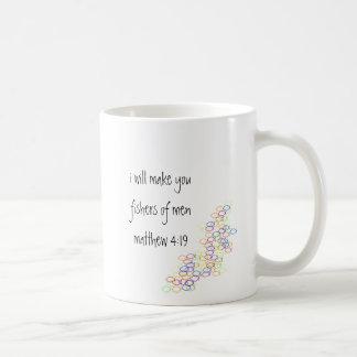 fishers of men classic white coffee mug
