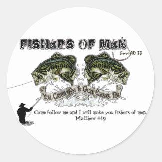 FISHERS OF MEN ROUND STICKER