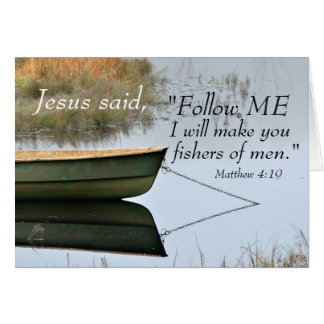 Fishers of Men Scripture Matthew 4:19 Card