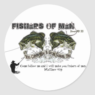FISHERS OF MEN ROUND STICKERS