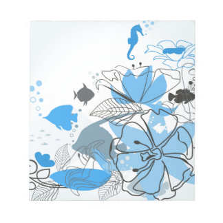 Fishes a flower notepad