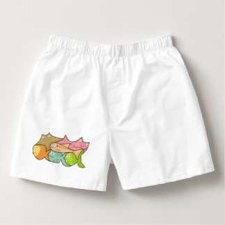 Fishes cartoon boxers