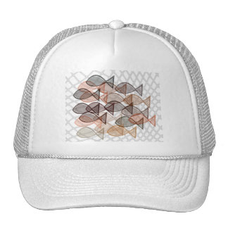 fishes catched in net trucker hat