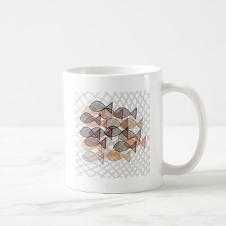 fishes catched in net coffee mugs