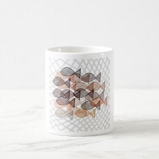 fishes catched in net coffee mug