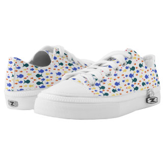 Fishes Colorful fish Custom Zipz Low Top Shoes