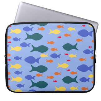 """Fishes Colorful fish Neoprene Laptop Sleeve 15"""""""