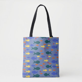 Fishes Custom All-Over-Print Tote Bag
