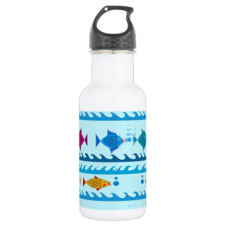 Fishes Design on Water Bottle