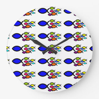 FISHES GALORE CLOCK.....SCHOOL OF FISHES! CLOCKS