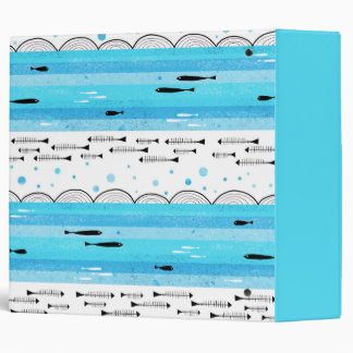Fishes in the sea 3 ring binders