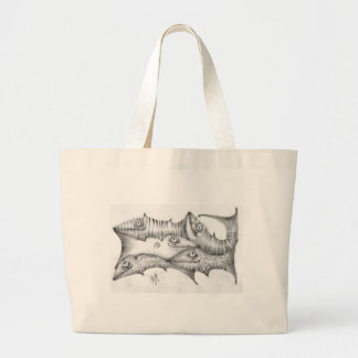 Fishes Large Tote Bag