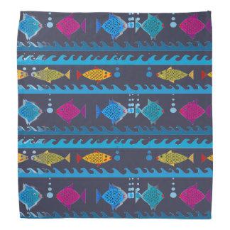 Fishes Swimming Design on Bandana
