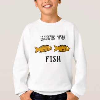 fishes swimming sweatshirt