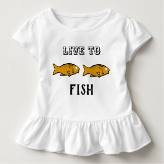 fishes swimming toddler t-shirt