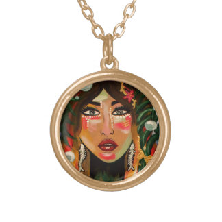 Fishgirl Gold Plated Necklace