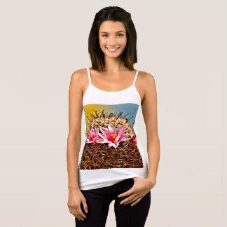 Fishhook Cactus Pink Flower Women's Tank Top