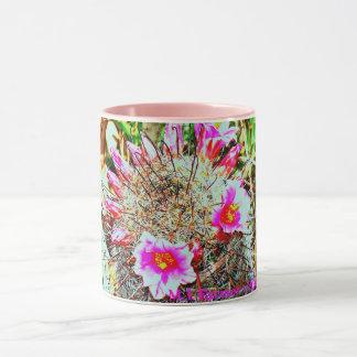Fishhook Cactus with Pink Blooms Mug