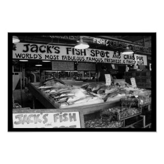 Fishin at Pike Place Market Posters