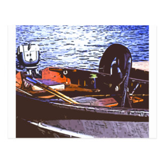 fishin boat postcard