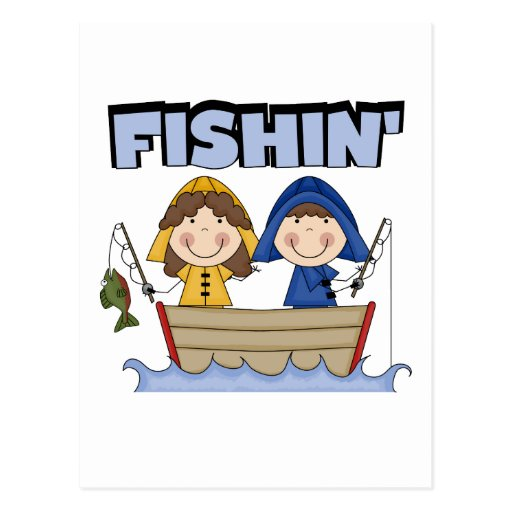 Fishin' Boat T-shirts and Gifts Post Cards