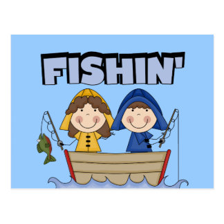 Fishin' Boat T-shirts and Gifts Post Card