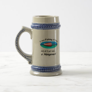 Fishing all Day Beer Stein