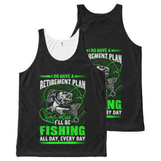 Fishing All-Over-Print Tank Top