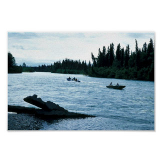 Fishing and Boating on the Kenai River Poster