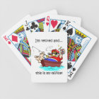 fishing and retirement bicycle playing cards