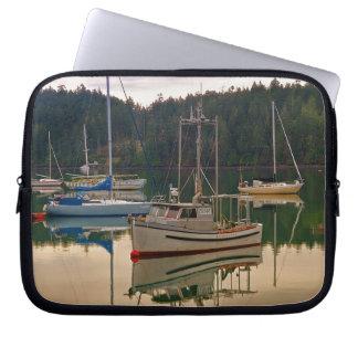 Fishing and Sail Boats Electronics Bag Laptop Sleeve