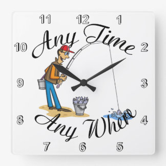 Fishing any time Wall clock