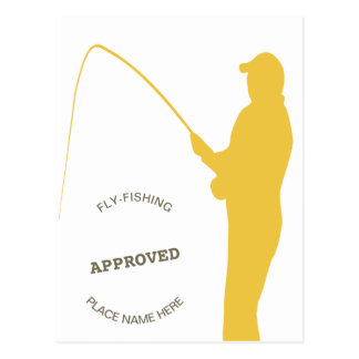 Fishing Approved Postcard