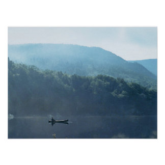 Fishing at Saco Lake Poster