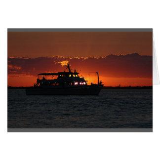 Fishing at Sunset Card