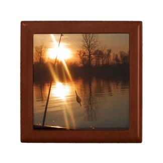 Fishing At Sunset Keepsake Box