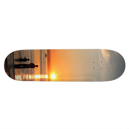 Fishing At Sunset Skate Board Decks