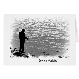 Fishing at the Lake Birthday Greeting Card
