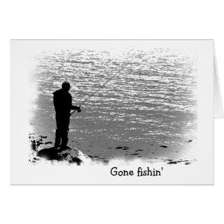 Fishing at the Lake Birthday Greeting Card