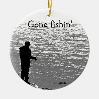 Fishing at the Lake Ceramic Ornament