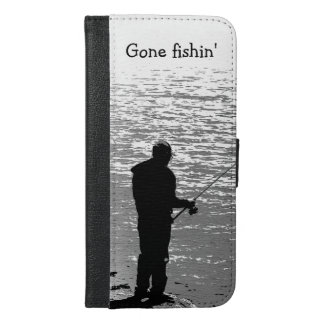 Fishing at the Lake iPhone 6 Plus Wallet Case