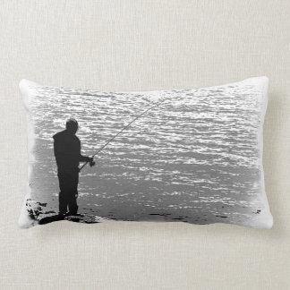 Fishing at the Lake Lumbar Pillow