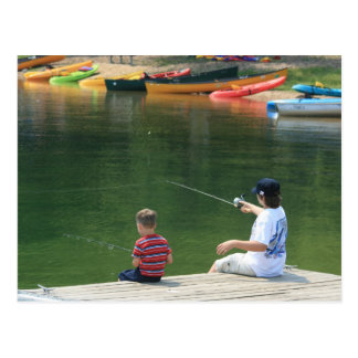 """""""Fishing at the Lake"""" Photography Postcard"""