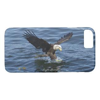 Fishing Bald Eagle & River iPhone Case