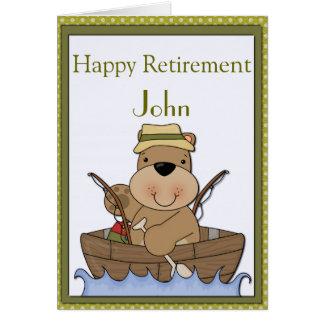 Fishing Bear Retirement Card