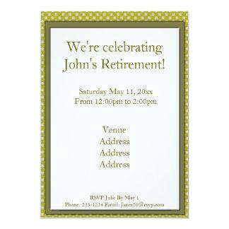 "Fishing Bear Retirement 5"" X 7"" Invitation Card"
