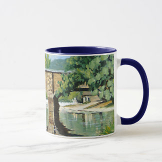 Fishing Bennett Springs Landscape Acrylic Painting Mug