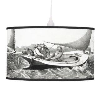 Fishing Blue Fin Tuna Ocean Boat Hanging Lamp